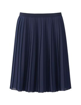 women-chiffon-pleated-skirt by uniqlo