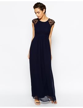 elise-ryan-pleated-maxi-dress-with-lace-sleeve by elise-ryan