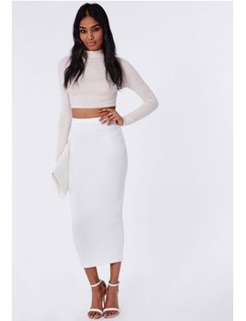 longline-jersey-midi-skirt-white by missguided