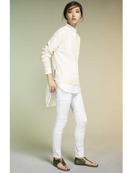 denim-le-tunic-oxford-shirt by frame