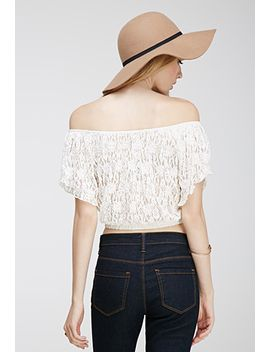 floral-lace-off-the-shoulder-top by forever-21
