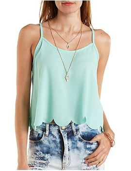 scalloped-flyaway-swing-tank-top by charlotte-russe