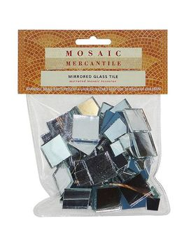 mirrored-glass-tile,-100-pack,-square-assorted by mosaic-mercantile