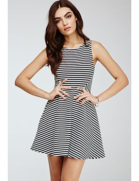 flared-stripe-dress by forever-21