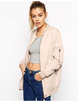 asos-nylon-bomber-jacket by asos-collection