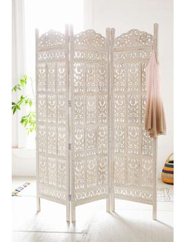 amber-carved-wood-room-divider-screen by urban-outfitters