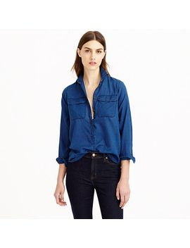 indigo-gauze-popover-shirt by jcrew