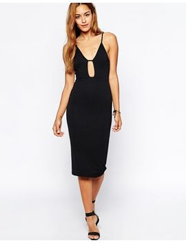 oh-my-love-plunge-neck-strappy-midi-dress by oh-my-love
