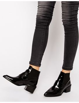whistles-riley-pointed-loafer-mid-heeled-ankle-boots by whistles