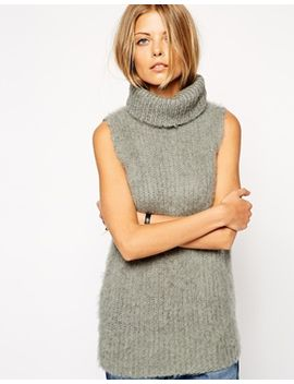 asos-sweater-vest-in-alpaca-with-roll-neck by asos-collection