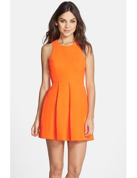 back-cutout-woven-fit-&-flare-dress by clove