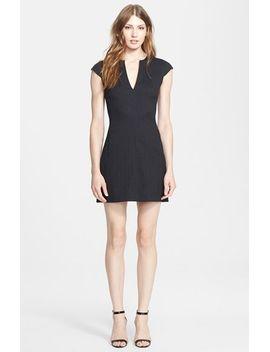 notch-neck-fit-&-flare-dress by lagence