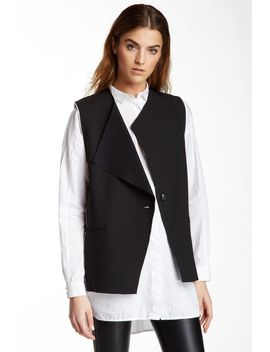 faux-leather-contrast-piping-detail-vest by helmut-lang