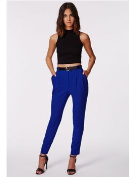 uttara-blue-high-waisted-cigarette-trousers by missguided