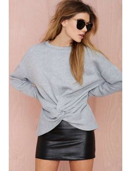 nasty-gal-knot-hot-sweatshirt by nasty-gal