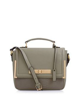 mink-leather-snakeskin-textured-panel-satchel by new-look