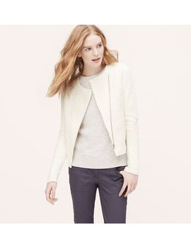 cotton-jacquard-moto-jacket by loft