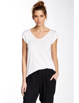 v-neck-cap-sleeve-tee by valette