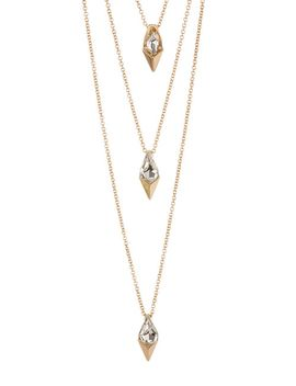 triple-layer-clear-stone-necklace by stephan-&-co