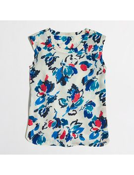 petite-printed-drapey-sleeveless-top by jcrew