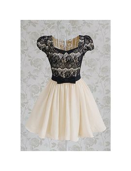 vintage-sweetheart-neckline-lace-splicing-bow-short-sleeves-dress-for-women by sammy-dress