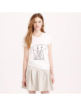 womens-jcrew-for-david-sheldrick-wildlife-trust-elephant-t-shirt by jcrew