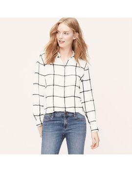 windowpane-utility-blouse by loft