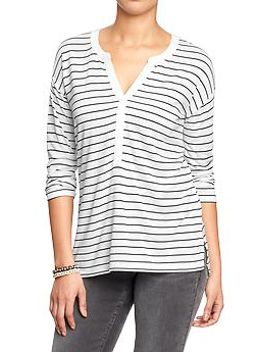 womens-striped-jersey-pullovers by old-navy