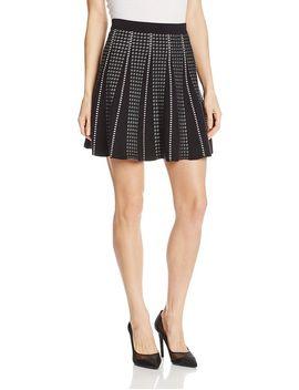 bcbgmaxazria-womens-yaz-knit-flared-skirt,-black-combo,-x-small by bcbgmaxazria