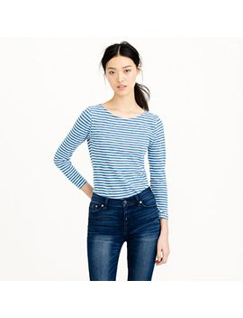 painter-boatneck-t-shirt-in-indigo-stripe by jcrew