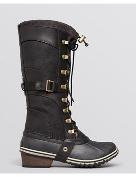 womens-conquest-carly-lace-up-cold-weather-boots by sorel
