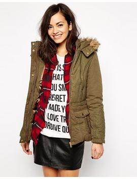 new-look-faux-fur-trim-parka by new-look