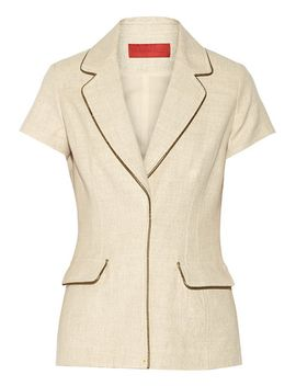 metallic-trimmed-cotton-blend-jacket by tamara-mellon