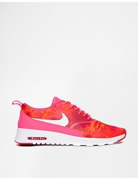 nike-thea-pink-print-trainers by nike