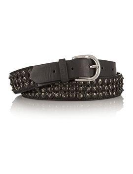 the-outnetembellished-embellished-leather-skinny-belt by isabel-marant