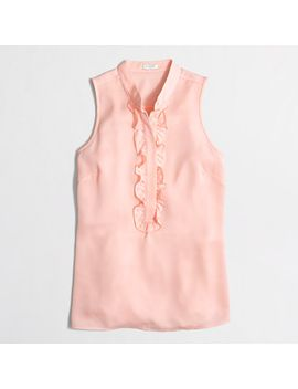 pleated-ruffle-cami-top by jcrew