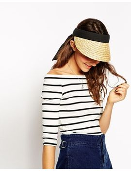 asos-straw-tie-back-visor by asos-collection