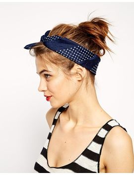 asos-mixed-dot-bandana-headscarf-and-neckerchief by click-here-to-view-our-full-range-of-hair-accessories