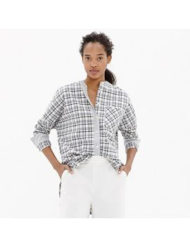 collarless-messenger-shirt-in-dossier-plaid by madewell