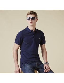 slim-fit-pique-polo by lacoste