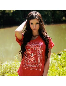womens-southern-bandana-off-the-shoulder-tank-top---vintage-red by marketplace