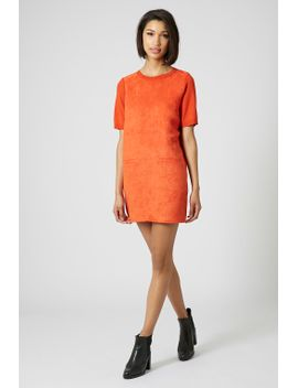 suede-front-shift-dress by topshop