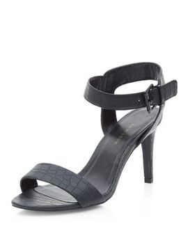 wide-fit-black-croc-ankle-strap-heels by new-look