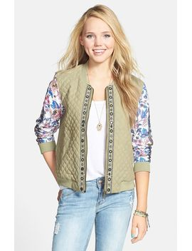 backup-luv-print-sleeve-quilted-front-jacket by billabong