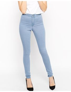 asos-rivington-high-waist-denim-jeggings-in-palace-wash by asos-collection