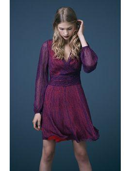 ashlynn-surplice-silk-dress by diane-von-furstenberg