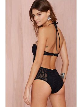 mara-hoffman-supernova-jacquard-swimsuit---black by nasty-gal