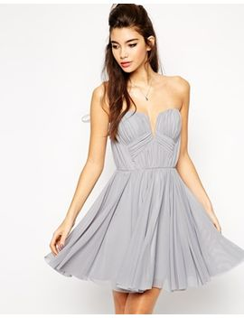 asos-twist-plunge-bandeau-skater-dress by asos-collection