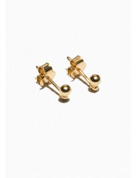 gold-plated-sterling-silver-stud-earrings by &-other-stories