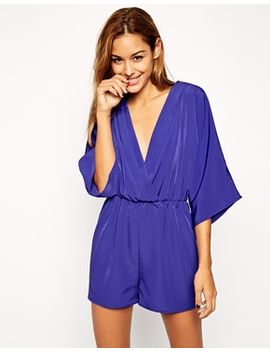 asos-romper-with-lapel-collar by asos-collection